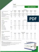 11. Tech Page Dv Series (320 - 625) Kva