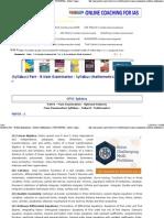 Part - B Main Examination - Syllabus (Mathematics)