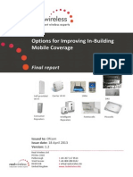 Options for improving in-building Mobile Coverage