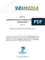 D4.12.1 CARVIREN Experiment Problem Statement and Requirements