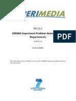 D4.13.1 3DRSBA Experiment Problem Statement and Requirements