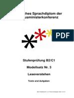 Modellsatz B2-C1 Nr. 3, LV Texte Und Aufgaben