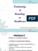 Branding & Positioning in healthcare