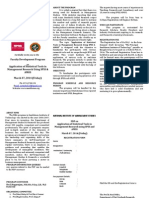 SPSS FDP Brochure - March 07, 2014