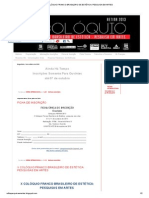 X COLÓQUIO FRANCO BRASILEIRO DE ESTÉTICA_ PESQUISA EM ARTES