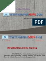 Informatica Online Training in USA,Uk, India,Hyderabad, Canada, Australia, Singapore.