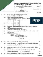 Engineering Mathematics II April 2008
