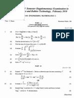 Engineering Mathematics I Feb 2010