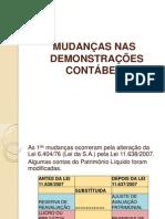 PRINCIPAIS MUDAN+çAS NA DEMONSTRA+ç+òES CONT+üBEIS