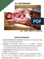 PARTO PRETÉRMINO