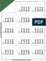 4D R Subtraction WS 2