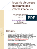 Cours L3 - Artériopathie chronique Oblitérante des MI - SK - 2012
