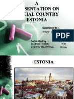 A Prasentation on Special Country Estonia