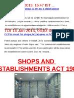 Shops & Est. Act