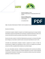 Lettre Le Foll - Martin Sur OGM