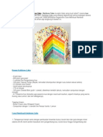 Resep Cara Membuat Rainbow Cake