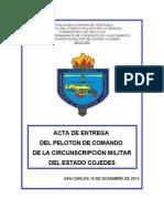 Acta de Entrega Del Peloton. 10- Junio 2013