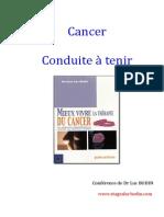 Conduite à tenir cancer