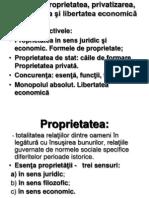 Tema 3. Proprietatea, Privatizarea, Concurenta