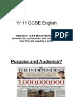Yr 11 English Fact and Opinion