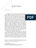 Re-reading Bartleby Silence
