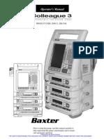 Banda de Infusión, Baxter, Colleague-3, Manual de Usuario