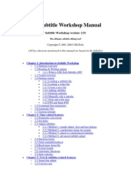 Subtitle Workshop Manual