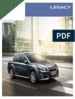 Catálogo Subaru Legacy 2013