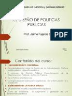 EL DISEÑO DE POLITICAS PUBLICAS