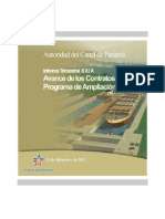 Panama Canal Expansion Update | Dec. 31, 2014 (Spanish)