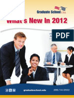 What's New in 2012 at Graduate School USA