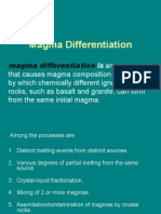 GEOL 202 MAGMA DIFFERENTIANTION
