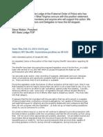 Email WV Sheriffs' Association position on SB 440