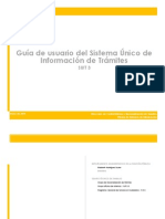 Guía de usuario del Sistema Único de Información de Trámites
