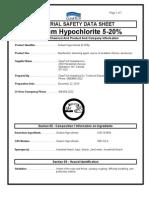 MSDS Sodium Hypochchlorite (Bleach)
