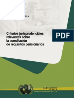 Acreditación de requisitos pensionarios, jurisp - Abanto, Cesar - DJ 2013.