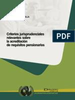Acreditación de requisitos pensionarios, jurisp - Abanto, Cesar - DJ 2013.
