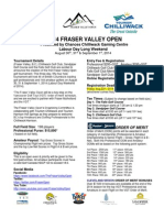2014 Fraser Valley Open Details