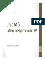 U6. La lírica del siglo XX hasta 1939