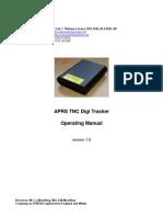 CCW APRS TNC Digi Tracker Operating Manual v1.7