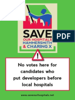 Save our Hospitals poster