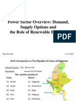 Myanmar Power Sector Overview
