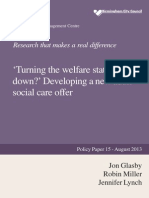 Turning the welfare state upside down? Developing a new social care offer