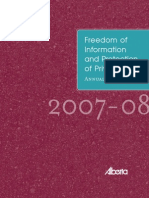 FOIP Annual Report 2007-08