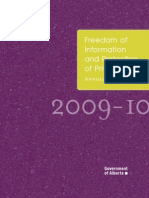 FOIP Annual Report 2009-10