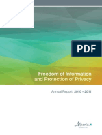 FOIP Annual Report 2010-11
