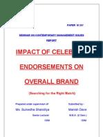 Impact of Celebrity