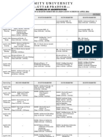 Amity University Revised exam schedule