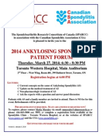2014 Ankylosing Spondylitis Patient Forum
