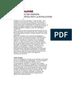 JOHN DUPRÉ - EL LEGADO DE DARWINW qué significa hoy la evolución